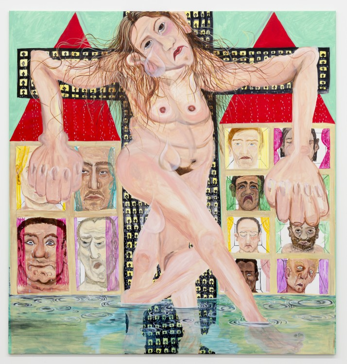 Jana Euler Female Jesus crying in public 01 Galerie Neu