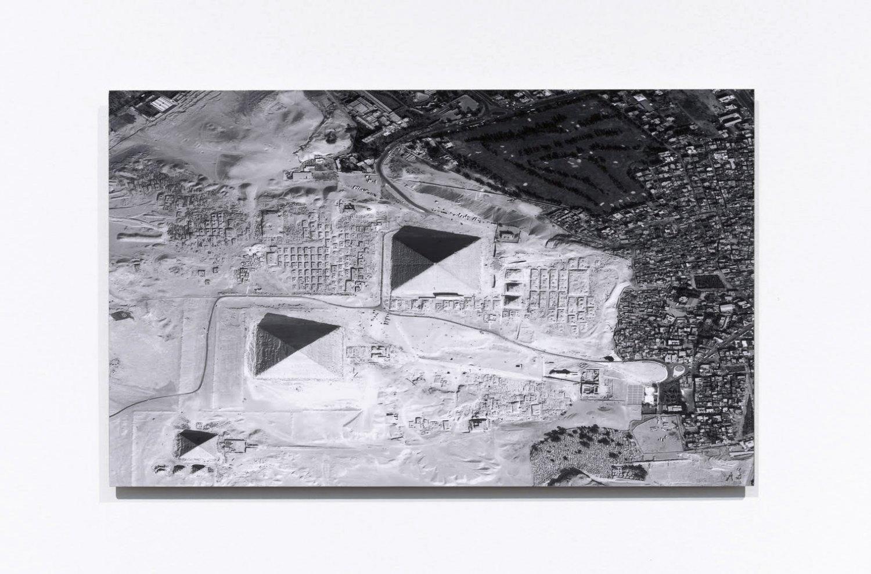Sean Snyder Storage (29.977 Latitude, 31.132 Longitude), 2016 b/w archival pigment print on matte paper mounted on 3 mm aluminum, 30 x 48.5 cm