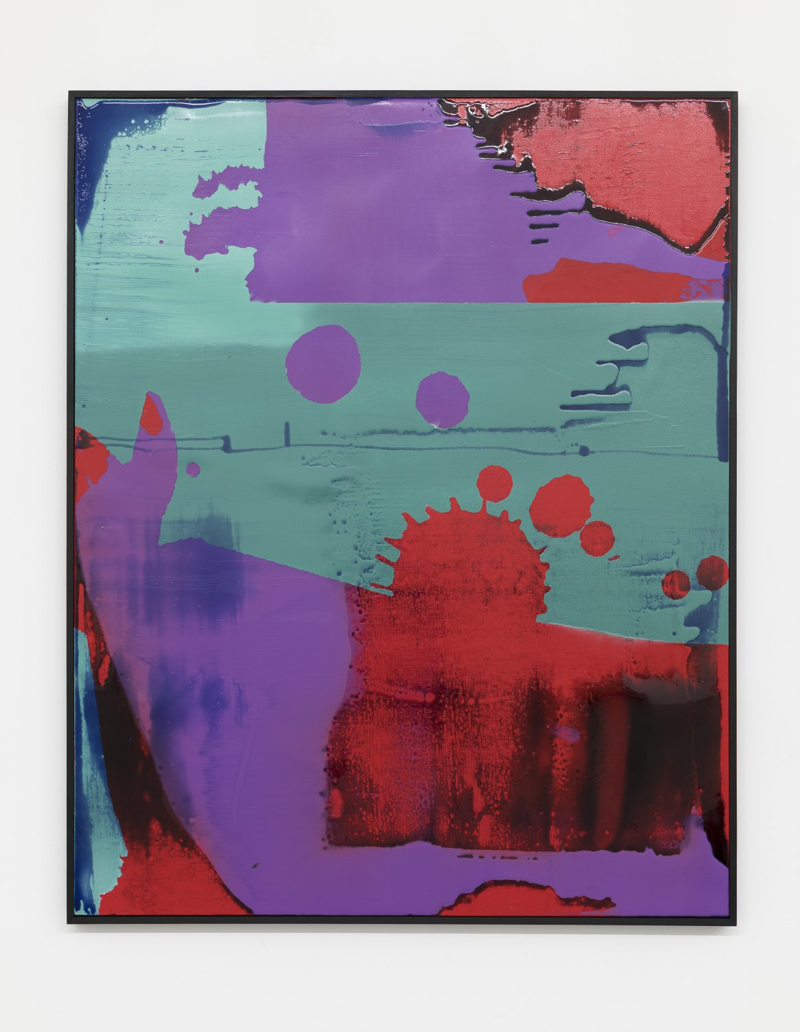 Alex Hubbard Too Pretty to Eat, 2018 Wooden panel, acrylic, pigmented urethane, fiberglass, epoxy resin on linen 155 x 125 x 5 cm