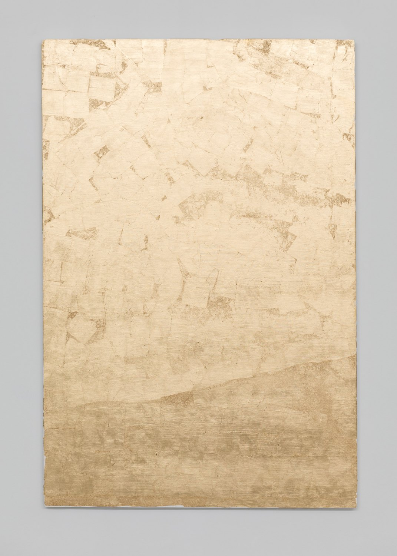 Sergej Jensen Rosa Cirrus, 2017 Gold and acrylic on linen, 152 x 52 x 2 cm