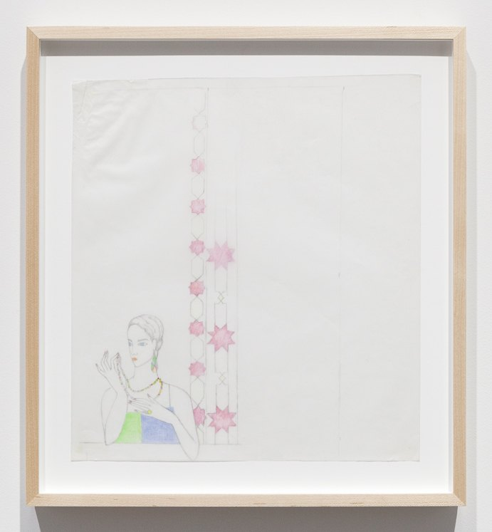 Katharina Wulff Untitled, 2015 Pencil, colored pencil on transparent paper, 32,4 x 29,5 cm