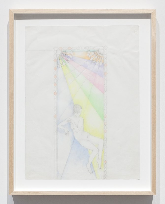 Katharina Wulff Untitled, 2015 Pencil, colored pencil on transparent paper, 37,5 x 27,6 cm