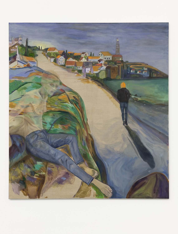 Jill Mulleady Erupted Citadel, 2018 Oil on linen, 168 x 152 cm