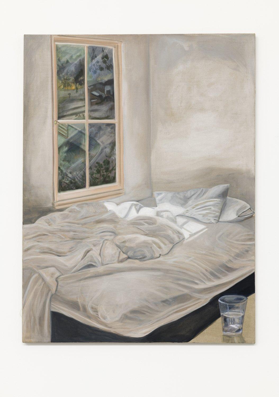 Jill Mulleady Insomnia, 2018 Oil on linen, 122 x 92 cm