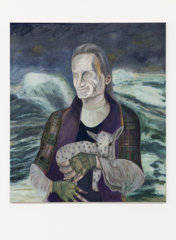 Jill Mulleady Self portrait in 2066 / Dementia, 2018 Oil on linen, 122 x 106 cm