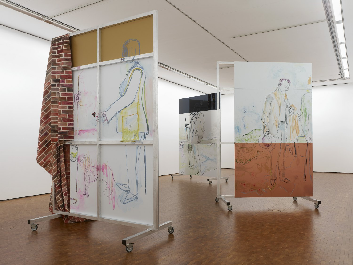 Reena Spaulings Installation view, Museum Ludwig, Cologne 2017