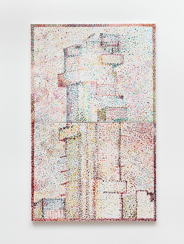 Reena Spaulings Dans la rue (56 Leonard), 2017 Acrylic on canvas, 110 x 70 cm
