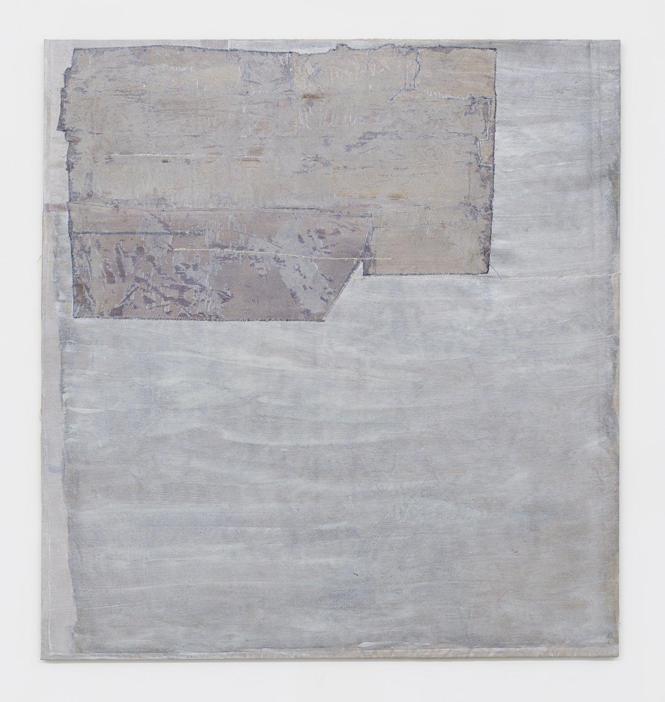 Sergej Jensen Untitled,2017 Acrylic on sewn linen, 188 x 175 x 3 cm