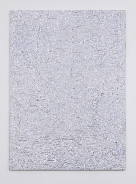Sergej Jensen Internal Deformation, 2017 Acrylic on sewn linen, 241 x 175 x 4 cm