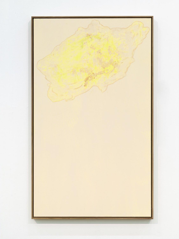 Sergej Jensen Untitled, 2016 Acrylic on linen, 135 x 80 cm