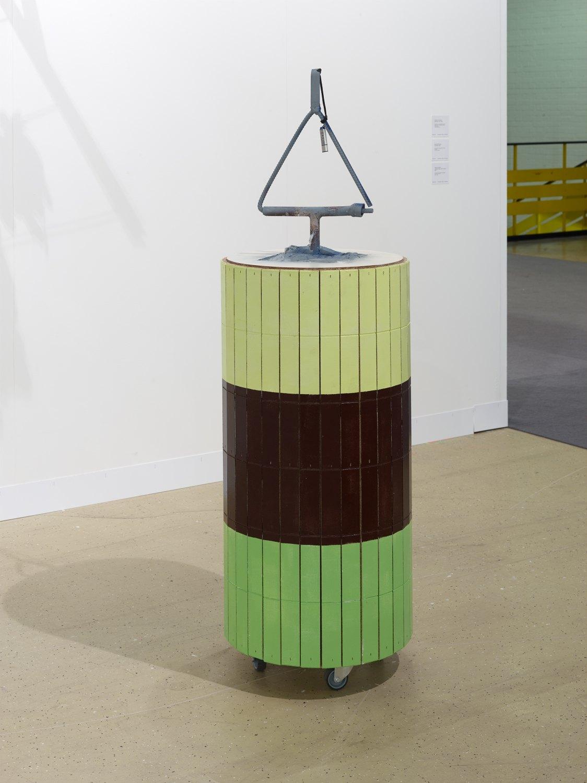 Manfred Pernice Goethe3, 2018 Wood, paint, metal, USB-stick, foam concrete, 140 x 60 x 60 cm
