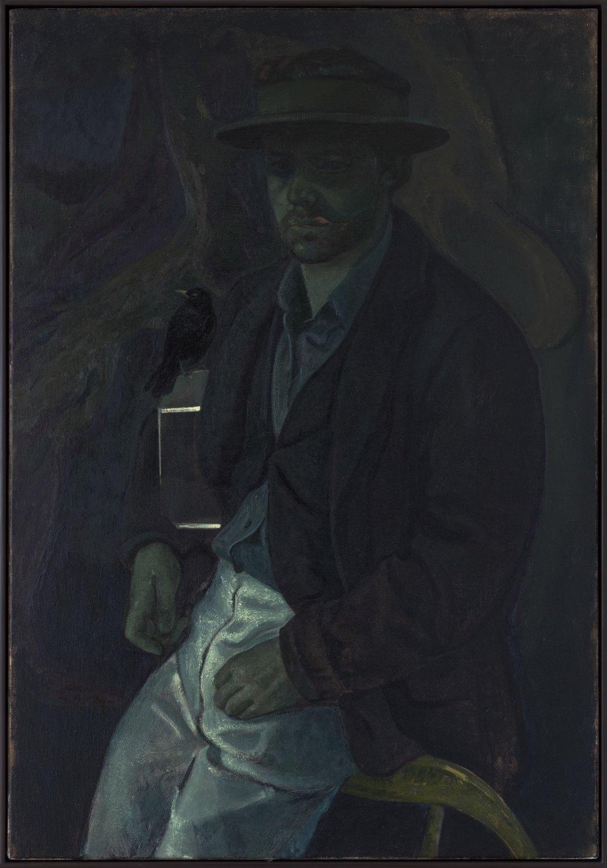 Victor Man Puntea peste o lacrima, 2016 Oil on canvas, 100 × 70 cm