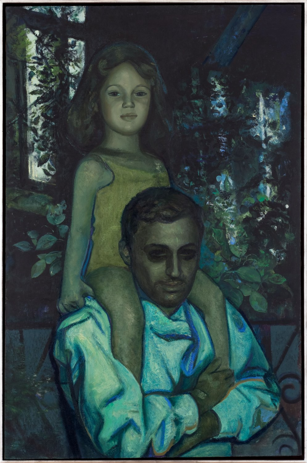 Victor Man A with his daughter, 2015 Oil on canvas, 101 × 67 cm
