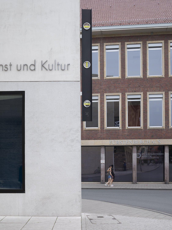 John Knight A Work in situ, 2017  Carbon fibre  365 × 13 × 33 cm Installation View, Skulptur Projekte, Münster, 2017