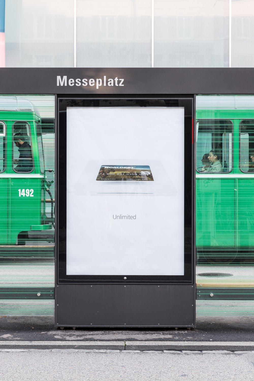 John Knight,Worldebt Installation view, Art Basel Unlimited, Basel 2015