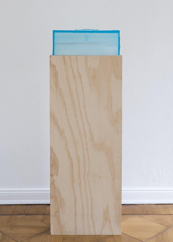 Alex Hubbard Studio 4, 2014 Urethane and MDF, box: 20 × 48.3 × 18 cm, plinth: 132 × 52 × 21 cm