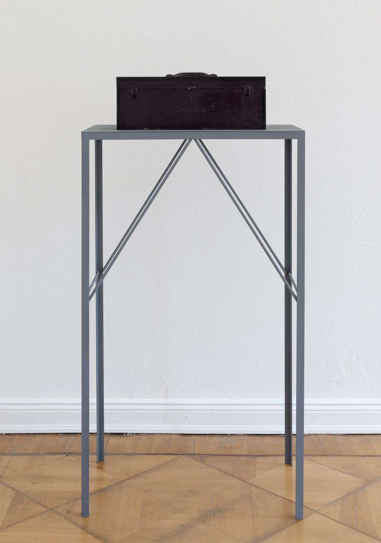 Alex Hubbard Studio 7, 2014 Urethane and steel, box: 20.2 × 51 x 20 cm, plinth: 127 × 73.6 × 43 cm