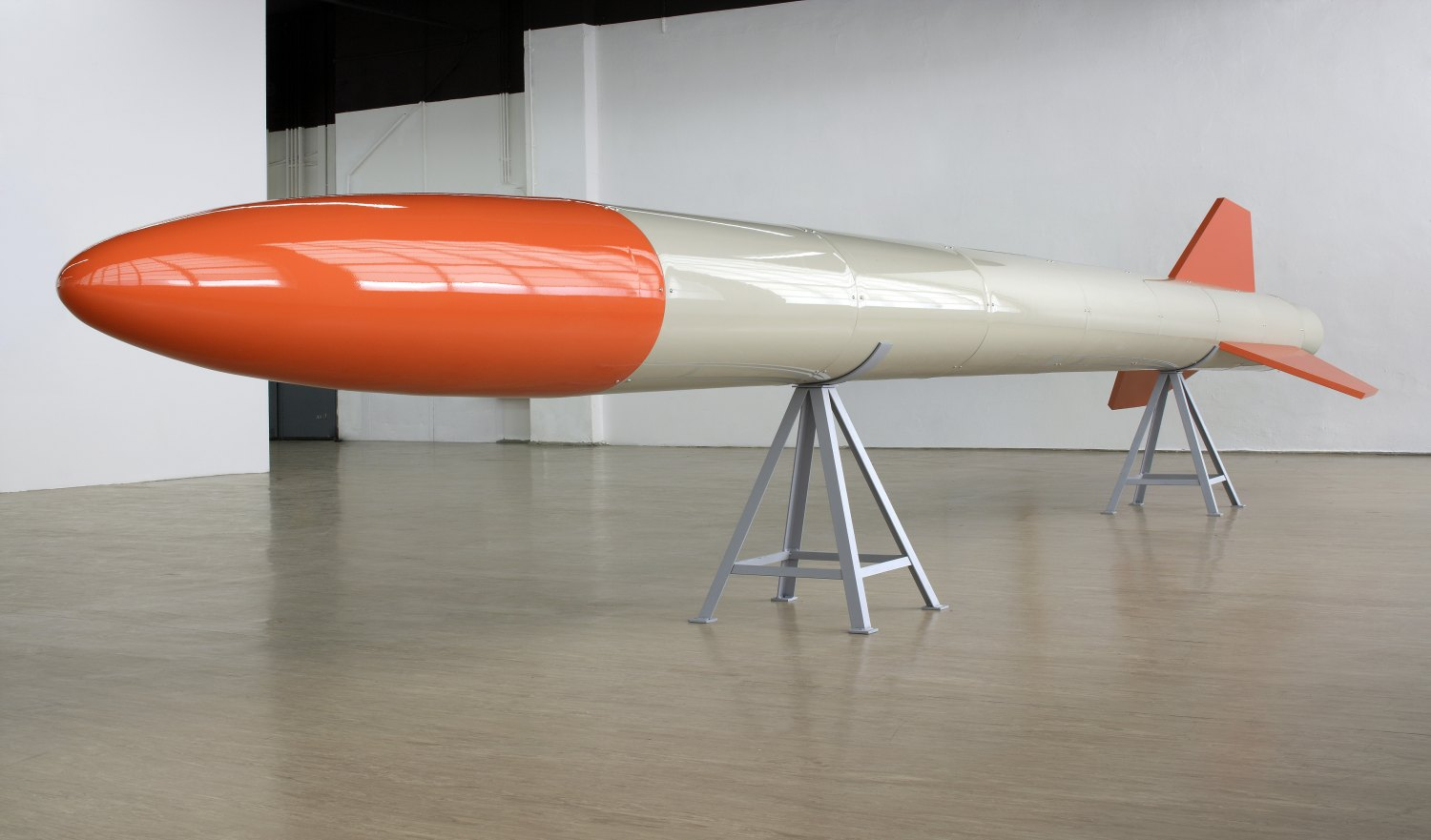 Cosima von Bonin Miss Riley, 2006  Steel, plastic and lacquer, ca. 952 × ∅ 150 cm