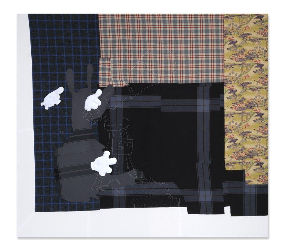 Cosima von Bonin Come see the moon (for five cent), 2006    Wool, Cotton,  305 × 315 cm