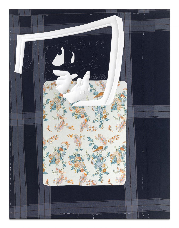 Cosima von Bonin  Duck Mathematics, 2009    Wool, cotton,  260 × 201 cm