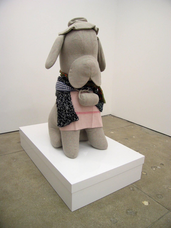 Cosima von Bonin   Untitled (The Grey Saint Bernard With Box),2006 Various materials,  142 × 70 × 95 cm