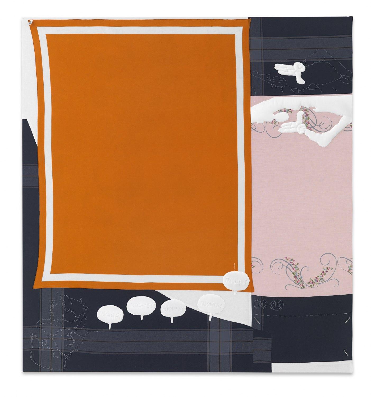 Cosima von Bonin   Why? What, what?, 2009    Wool, cotton, fleece,  228 × 213 cm