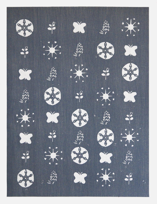 Gedi Sibony   Ceaseless Episodes of Blossom IV, 2013 Carpet, primer,  249 × 187 cm
