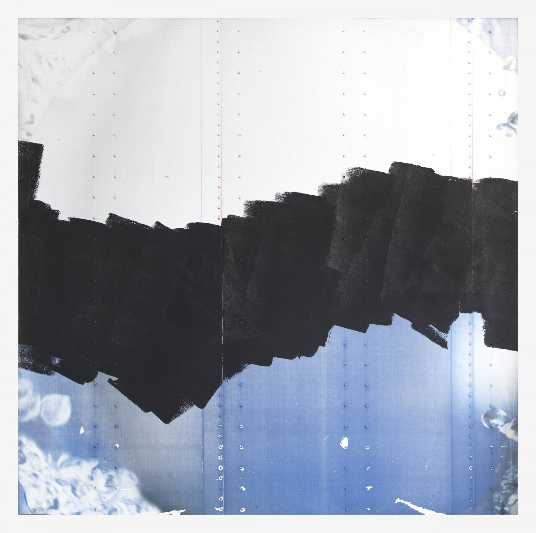 Gedi Sibony   The Orbiter, 2015    Aluminium semi-trailer,  246.5 × 246.5 cm
