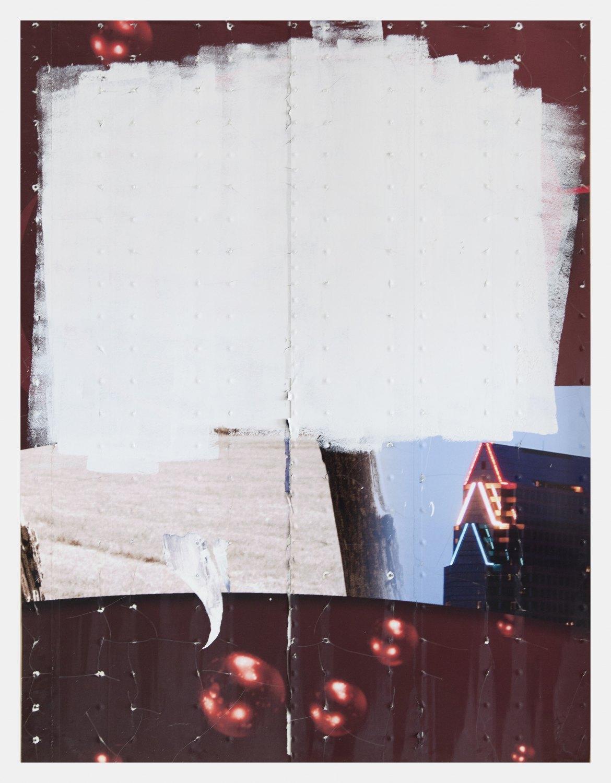 Gedi Sibony   The Tumefication of Latter, 2015    Aluminium semi-trailer,  234 × 181 cm