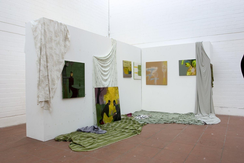 Kai Althoff, Immo Installation view, Simultanhalle, Köln 2004