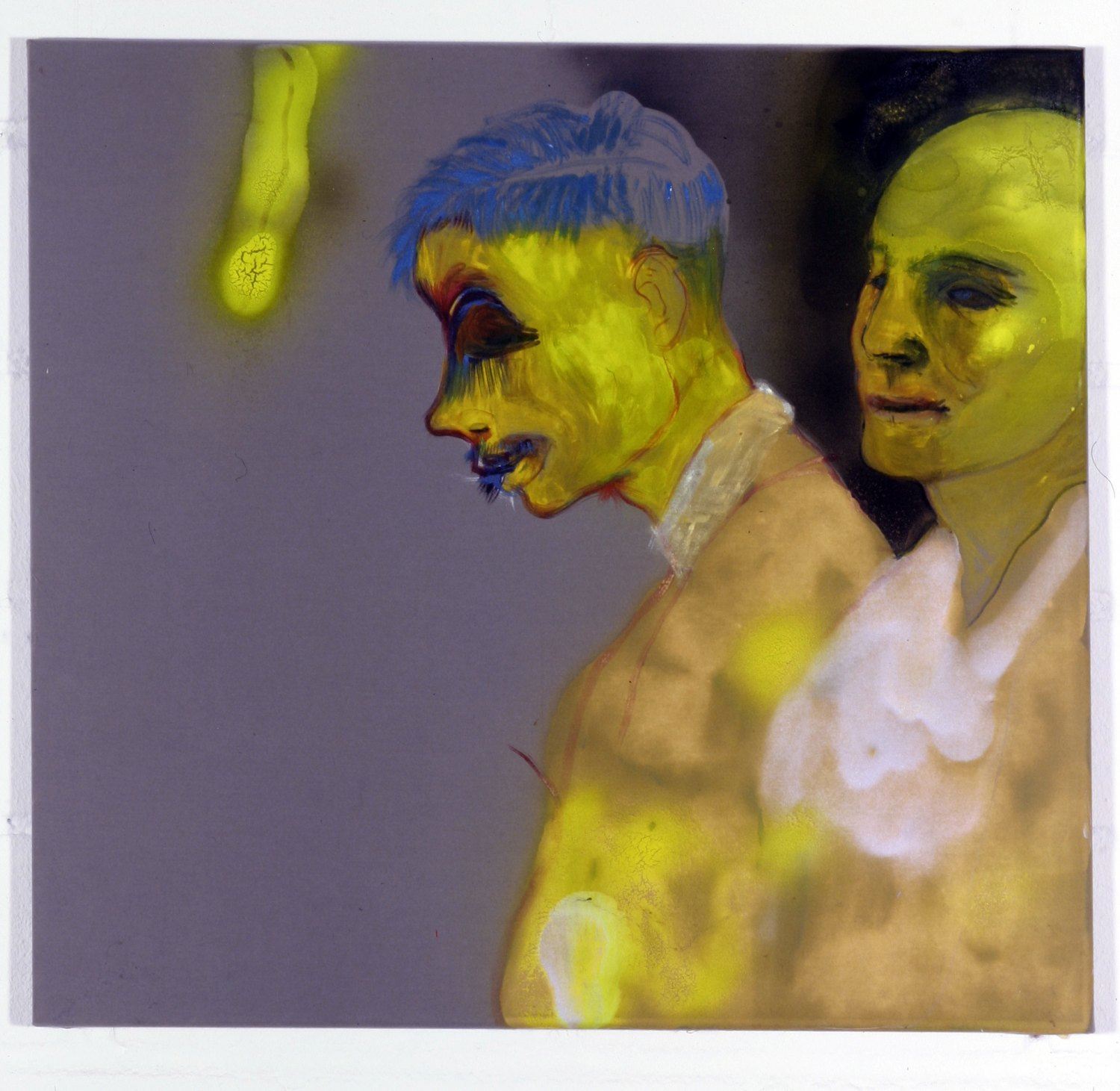 Kai Althoff Untitled, 2004 Oil and spray paint on fabric, 53 × 57 cm