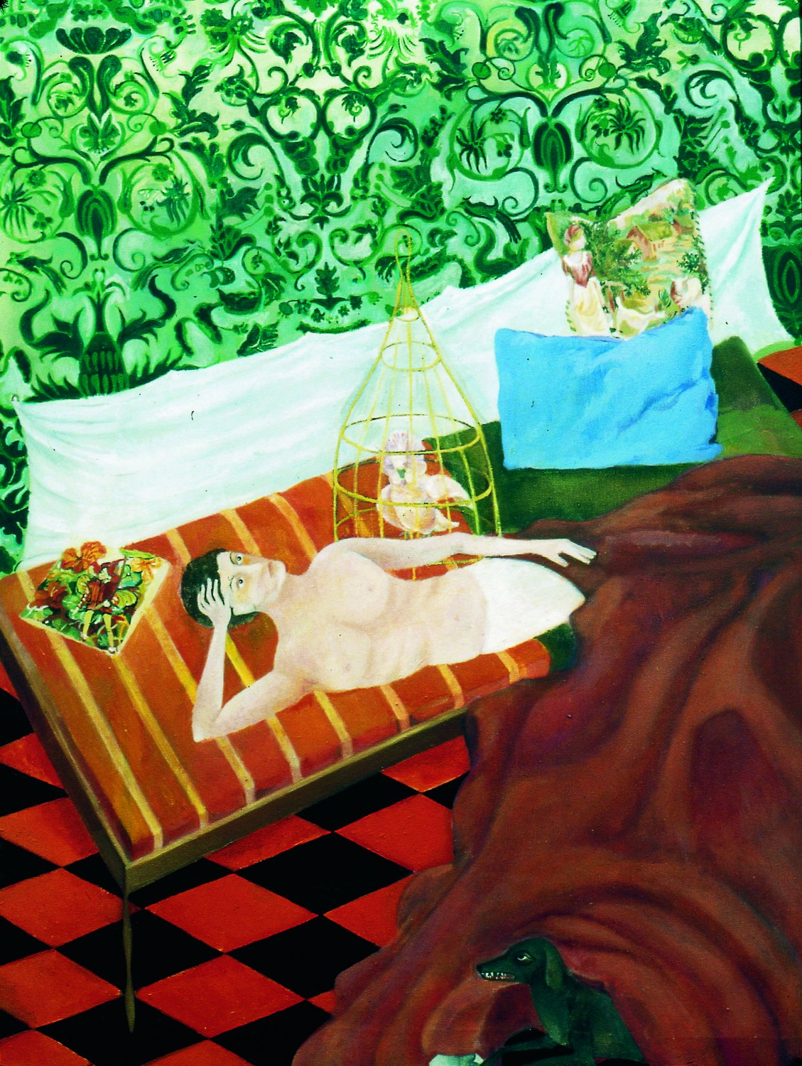 """Katharina Wulff   """"Charlie und Du"""" / Charlie and you, 2002    Oil on canvas,  75 × 56 cm"""