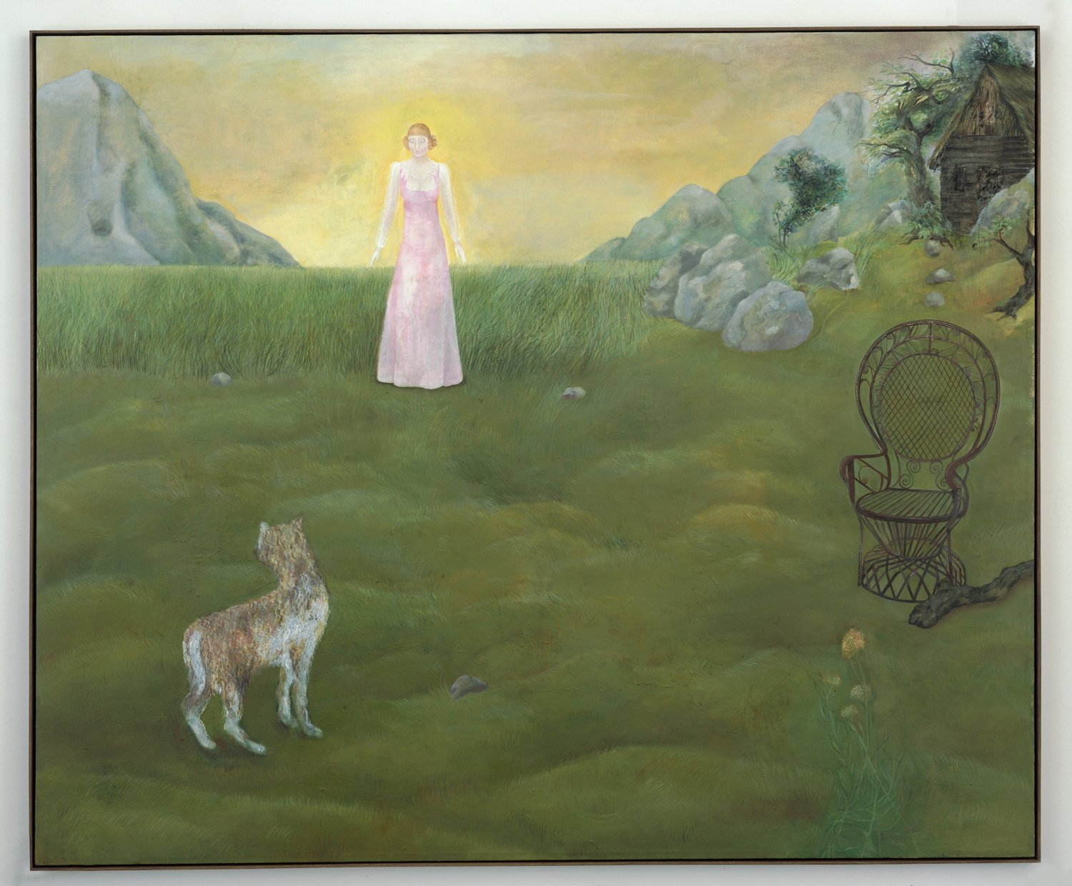 Katharina Wulff   Das Verbrechen / the crime, 2005    Oil on canvas,  171 × 210 cm