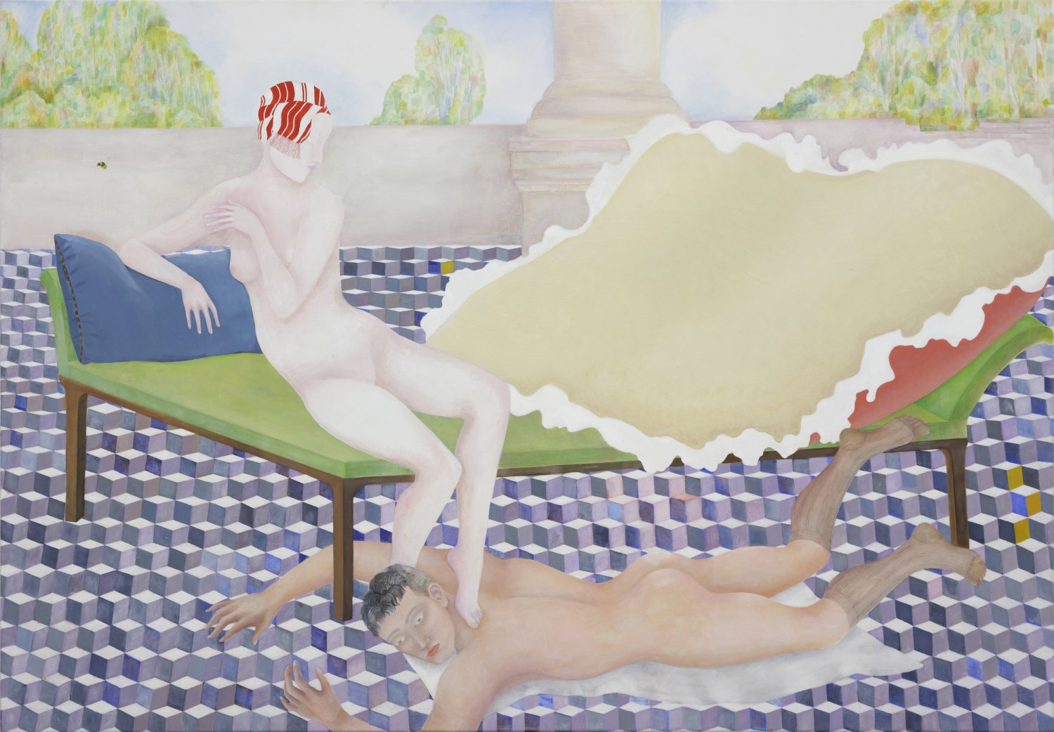 Katharina Wulff   Die Verbindung / the connection, 2008    Oil on canvas,  122 × 175 cm