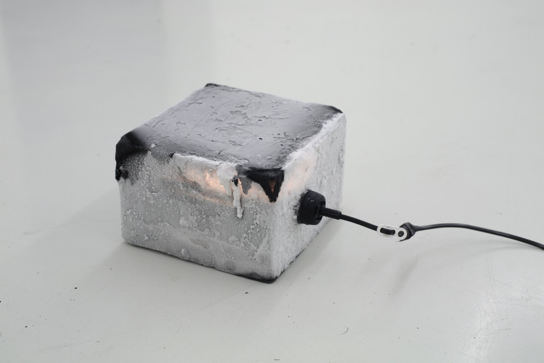 Kitty Kraus Untitled, 2006 Ice, ink, light bulb, 6.5 liter, 13 × 20 ×25 cm
