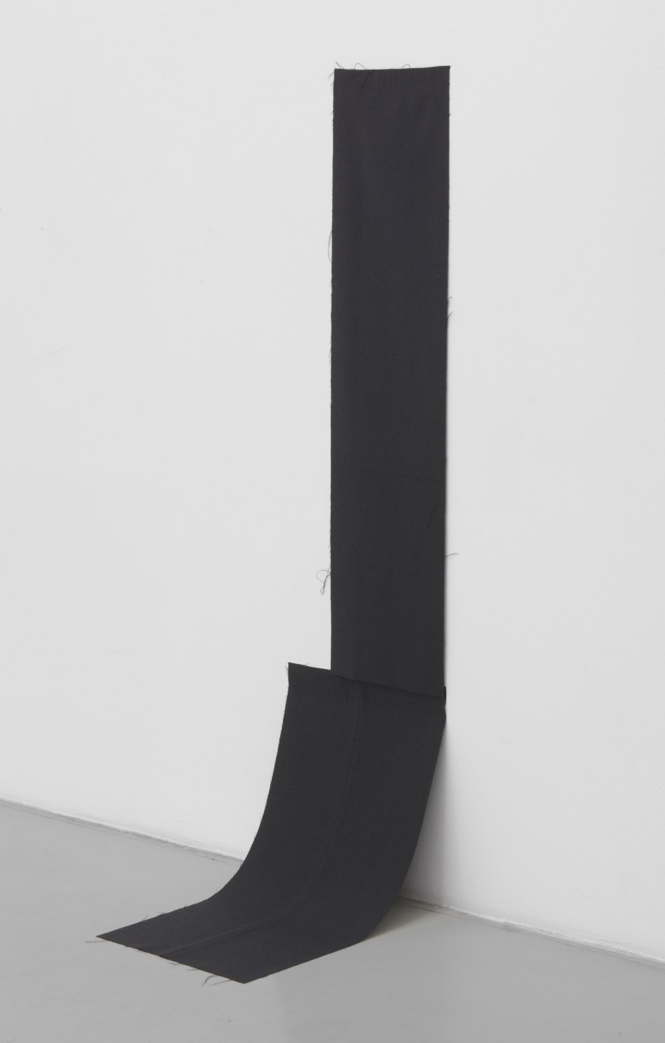 Kitty Kraus Untitled, 2008 Black fabric (two parts), 133 × 33 cm and 72 × 46 cm
