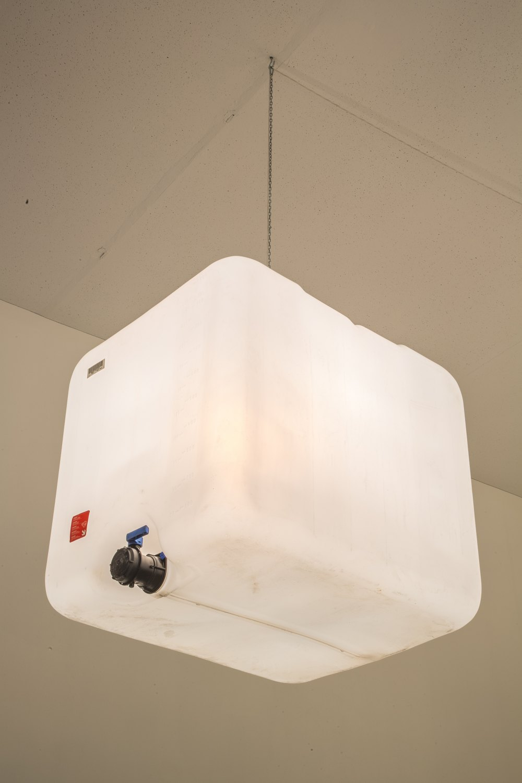 Klara Lidén Untitled, 2015 Lamp, plastic, 120 × 100 × 100 cm
