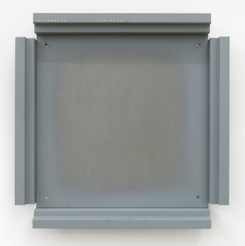 Manfred Pernice   Cassette 36, 2014    Metal, paint, 42.2 × 42.2 × 4.4 cm