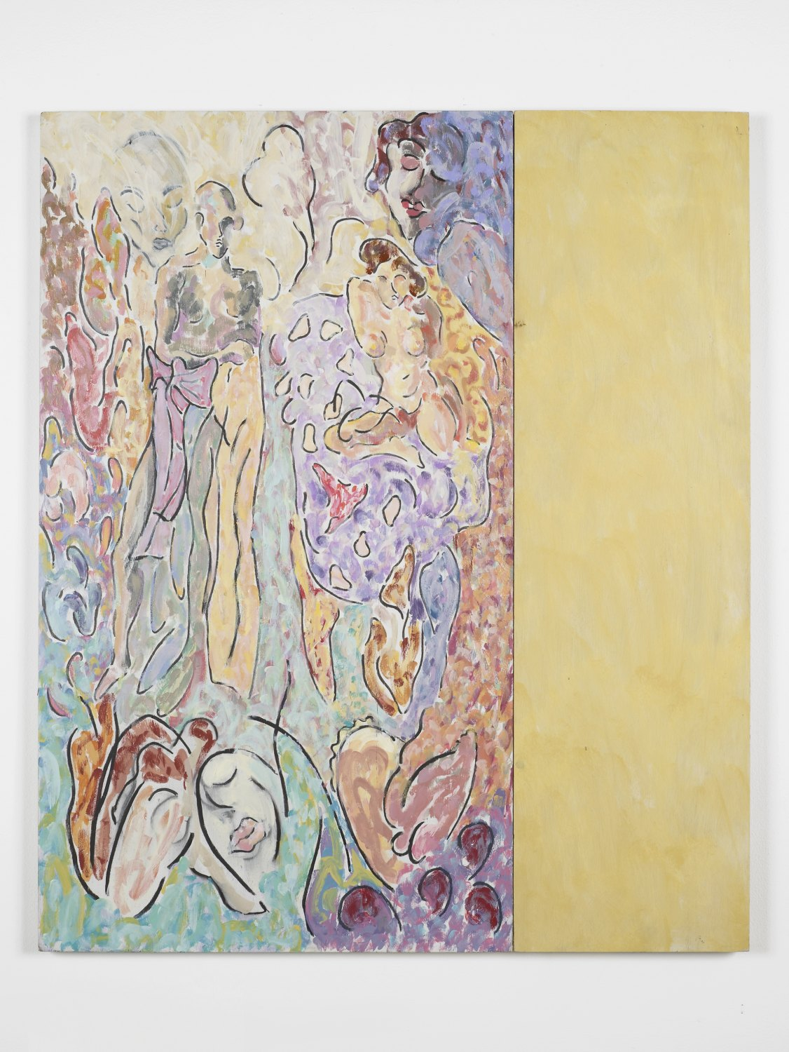 Marc Camille Chaimowicz After PB. (1), 1985 - 1990 Oil and charcoal on board and canvas, 92 × 110 cm
