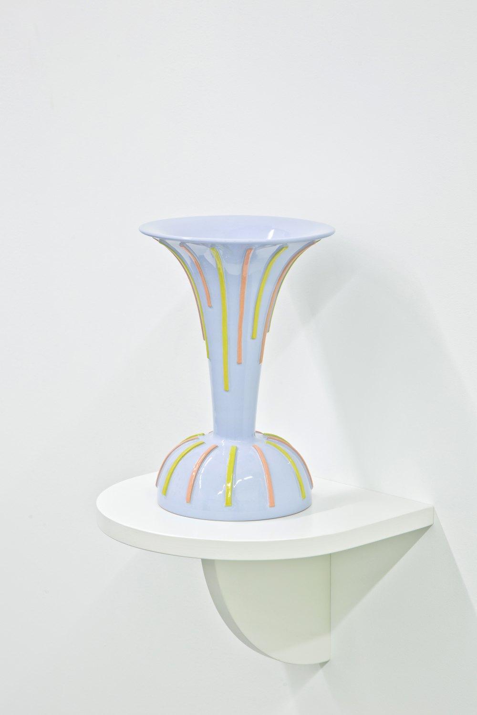 Marc Camille Chaimowicz Tulip vase, 2014 Glazed ceramic, 33 cm × ∅ 21 cm