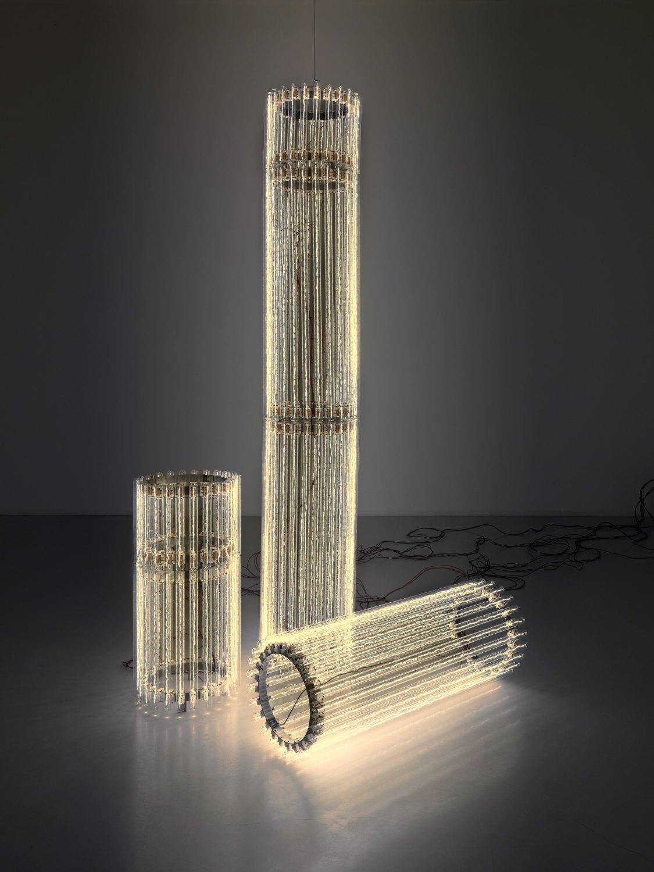 Cerith Wyn Evans   Column (Assemblages) V, 2010    Mixed media  three parts:39 × 230 cm,39 × 80 cm, 39 × 100 cm