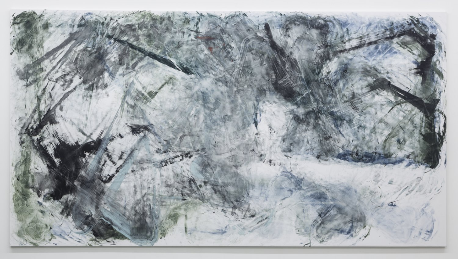 Reena Spaulings Later Seascapes 7, 2015 Farrow & Ball´s Estate Emulsions on canvas, 270 × 500 × 5 cm