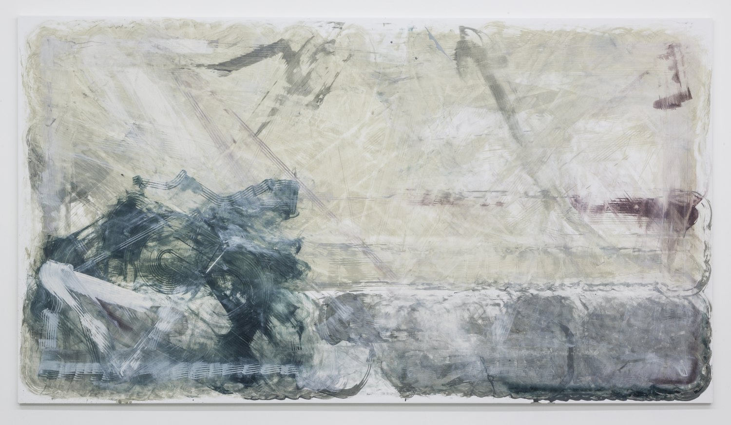 Reena Spaulings Later Seascapes 9, 2015 Farrow & Ball´s Estate Emulsions on canvas, 250 × 450 × 5 cm