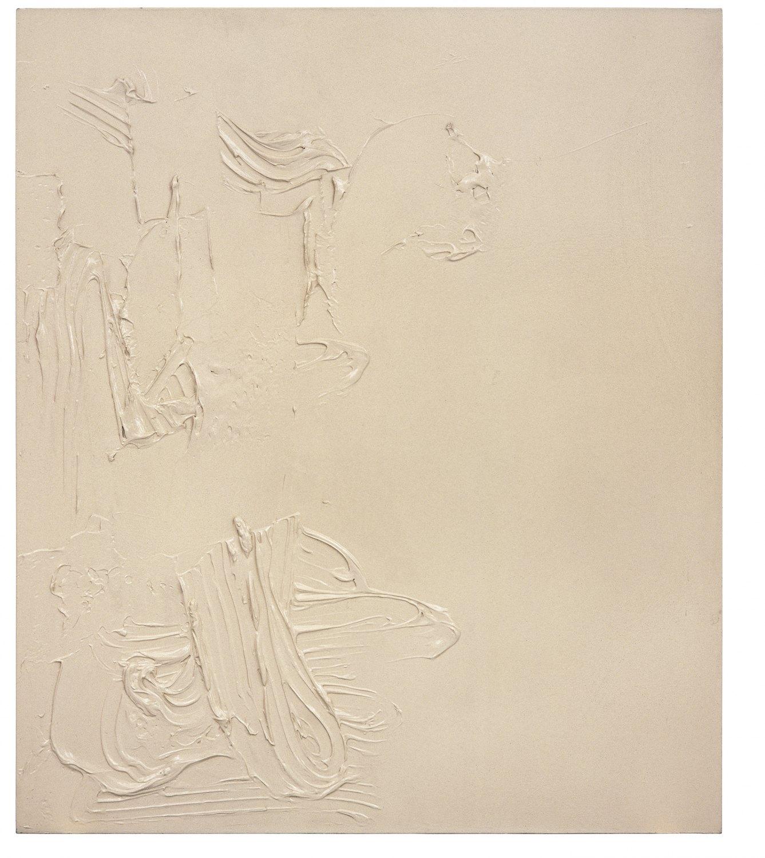Ull Hohn Tan Enamel, 1993 Modelling paste and paint on canvas, 183 × 157.5 cm