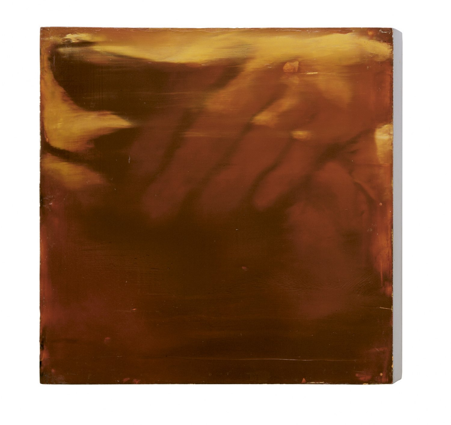 Ull Hohn Untitled, 1989 Oil and varnish on wood, 35.56 × 35.56 × 5.08 cm
