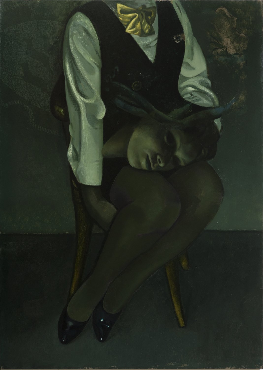 Victor Man  The Chandler, 2013 Oil on cardboard, 101 × 72 cm