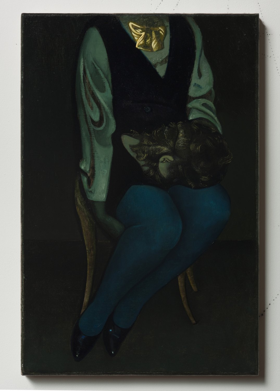 Victor Man The Chandler, 2013 Oil on linen, 46 × 29.8 cm